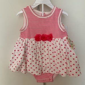 One piece dress with matching hat